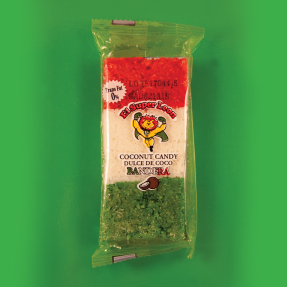 El Super Leon Ponchin Snacks Bandera de Coco