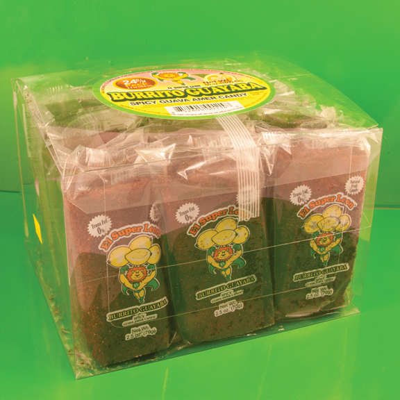 El Super Leon Ponchin Snacks Burritos Guava case