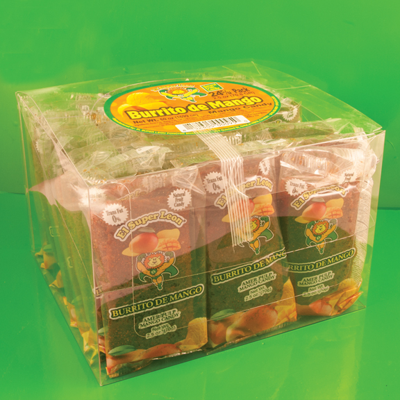 El Super Leon Ponchin Snacks Burritos Mango pack