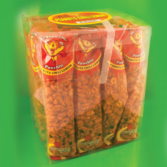 El Super Leon Ponchin Snacks Peanuts Chili Lemon case