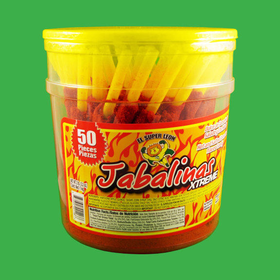 El Super Leon Ponchin Snacks Jabalinas Xtreme