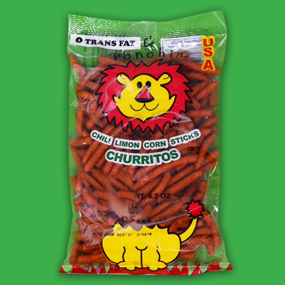 El Super Leon Ponchin Snacks Churro Mega Chile