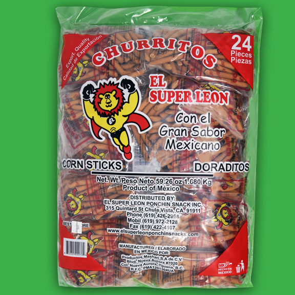 El Super Leon Ponchin Snacks Churro grueso