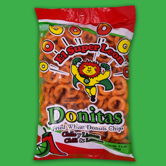 El Super Leon Ponchin Snacks Donitas chile Y limon