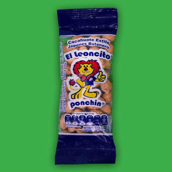 El Super Leon Ponchin Snacks Japanese Peanuts 1 half oz