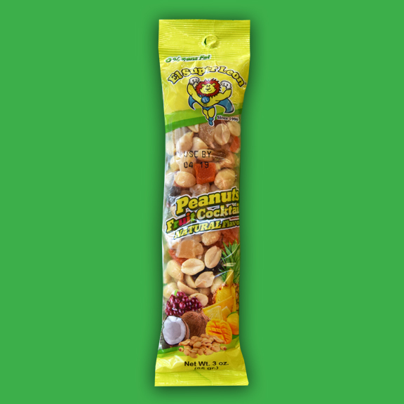 El Super Leon Ponchin Snacks Peanuts Fruit Cocktail Natural