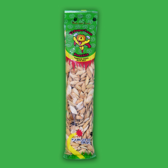 El Super Leon Ponchin Snacks pumpkin seeds w salt